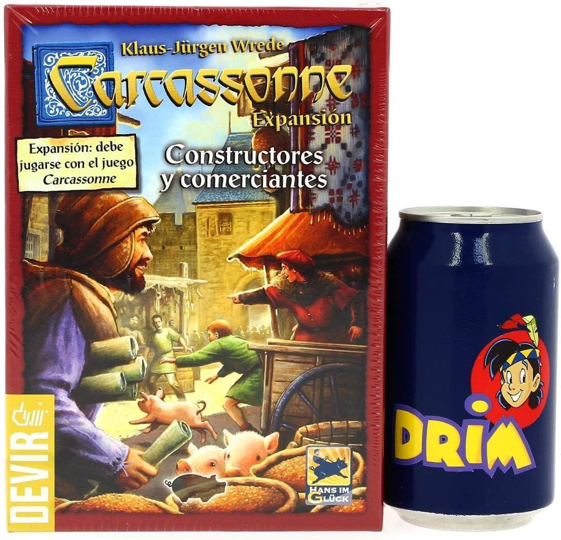 Devir Juego Carcassonne Constructores y Comerciantes: Amazon.es: Juguetes y juegos