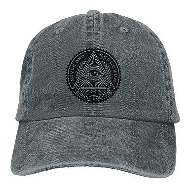 King Star New World Order Emblem All Seeing Eye Cowboy Hat Baseball Caps  Unisex Adjustable Hat 81fbc908137