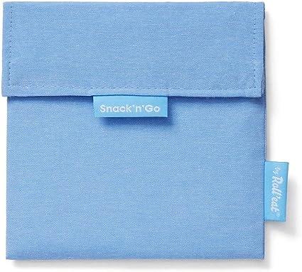 Blau SnacknGo Patchwork Wiederverwendbarer und /Ökologischer Sandwichhalter ohne BPA Rolleat