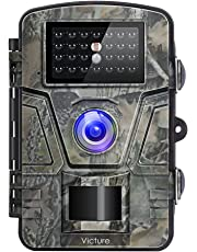 """Victure Wildlife Camera 1080P 12MP Trail Game Camera Motion Activated Night Vision 20m with 2.4"""" LCD Display IP66 Waterproof Design for Wildlife Hunting and Home Security"""