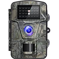 """Victure Trail Camera 1080P 12MP Wildlife Camera Motion Activated Night Vision 20m with 2.4"""" LCD Display IP66 Waterproof Design for Wildlife Hunting and Home Security"""