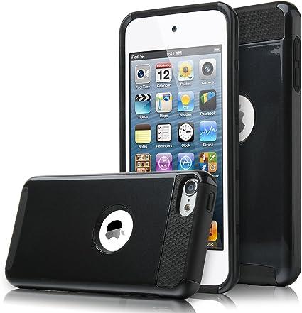 Apple iPod Touch 5th 6th Generation Hybrid Dual Layer Case Black Black Pc