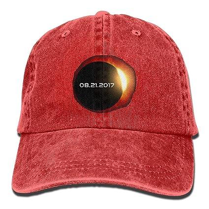Xdevrbk 2017 Total Eclipse Solar Gorras De Béisbol Sombreros De Mezclilla para Hombres Mujeres Diseño23