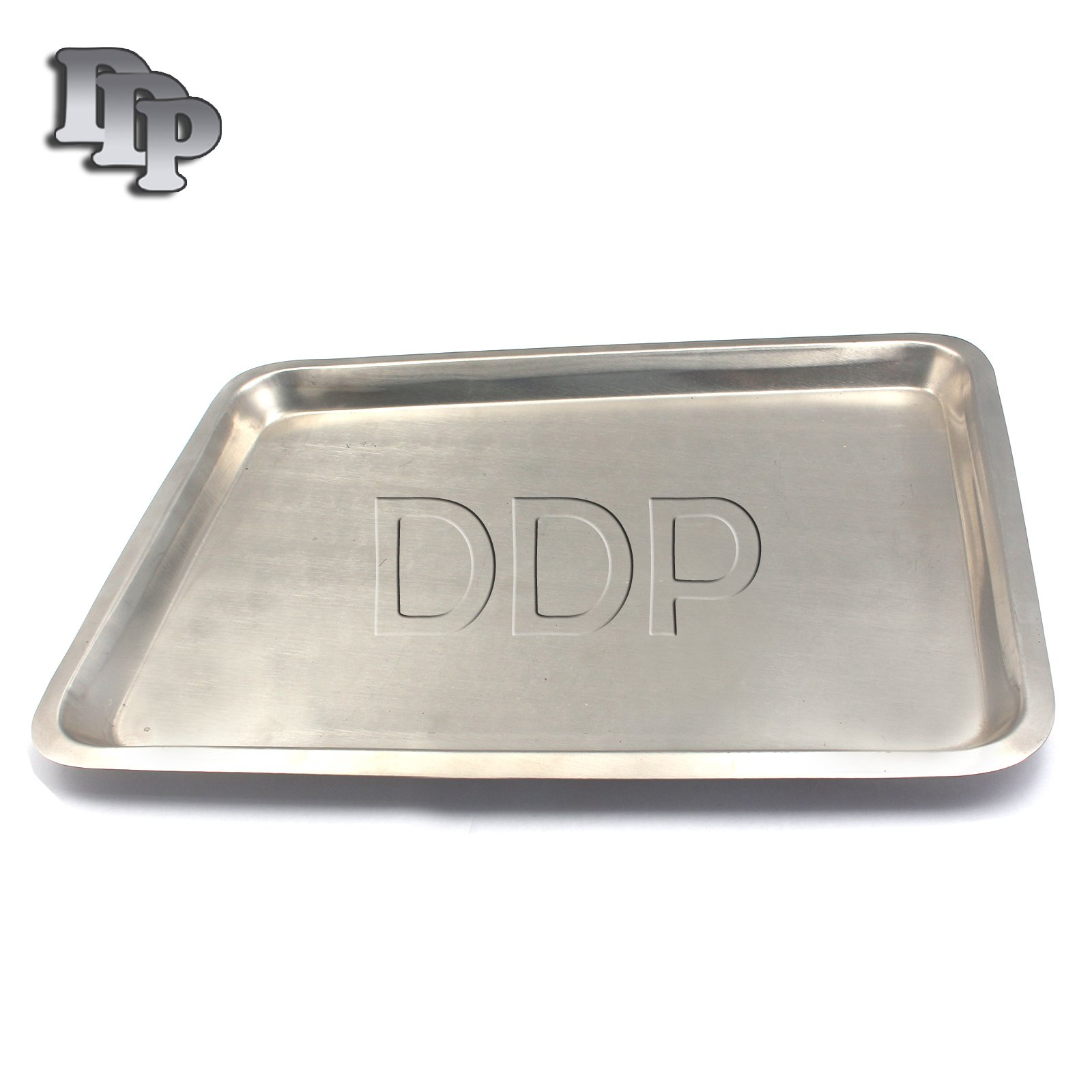 DDP INSTRUMENT TRAY FLAT STAINLESS STEEL 15'' X 10.5'' MEDIC, BODY PIERCING, SERVING