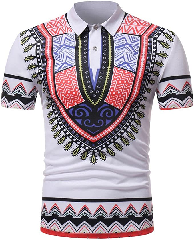 Sallydream Camisas Polo Hombre Camiseta Ajustada Africana de la ...