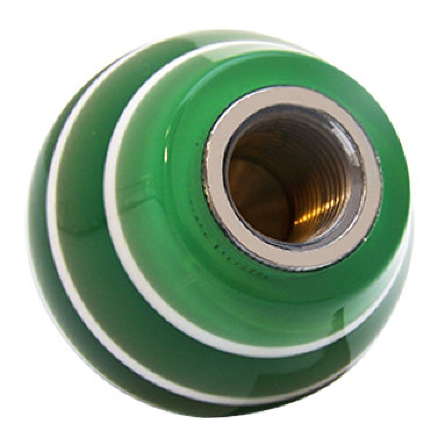 Black Transfer Case #4 American Shifter 127633 Green Stripe Shift Knob with M16 x 1.5 Insert