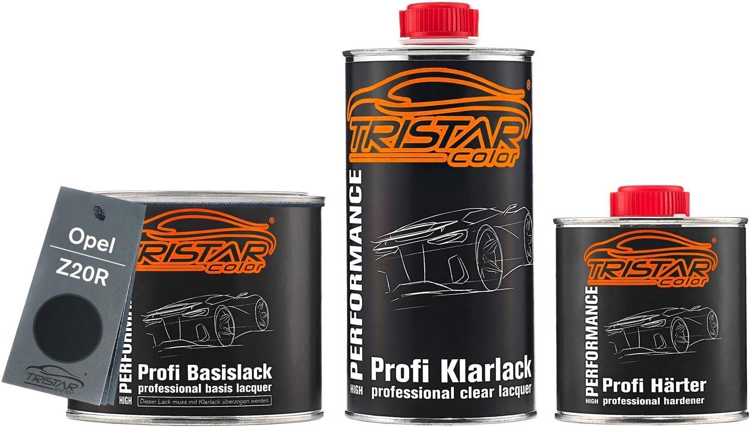 Tristarcolor Autolack Set Dose Spritzfertig Für Opel Z20r Saphirschwarz Metallic Black Sapphire Metallic Basislack 2k Klarlack 1 25l Auto