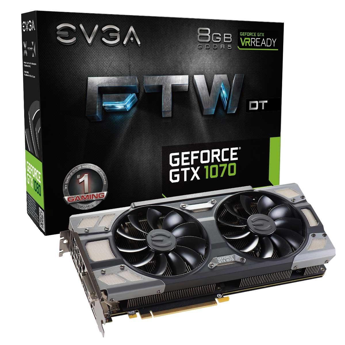 EVGA GeForce GTX 1070 FTW DT Gaming ACX 3.0 8 GB GDDR5 - Tarjeta ...