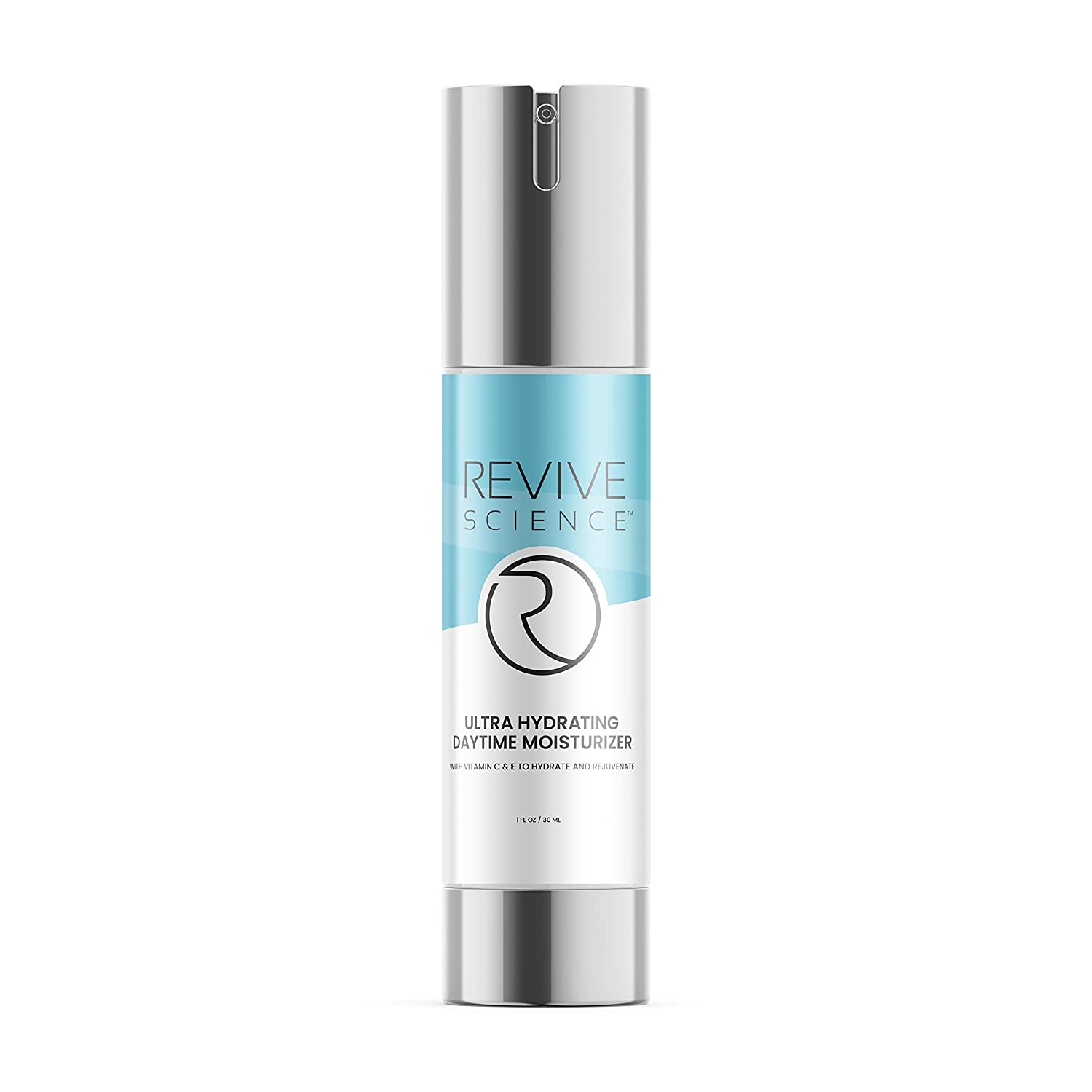 Revive Science Ultra Hydrating Daytime Ageless Moisturizer for Face, Eyes & Neck to Reduce Appearance of Wrinkles & Fine Lines, Brighten Skin Tone & Increase Collagen for Men & Women, 1 oz