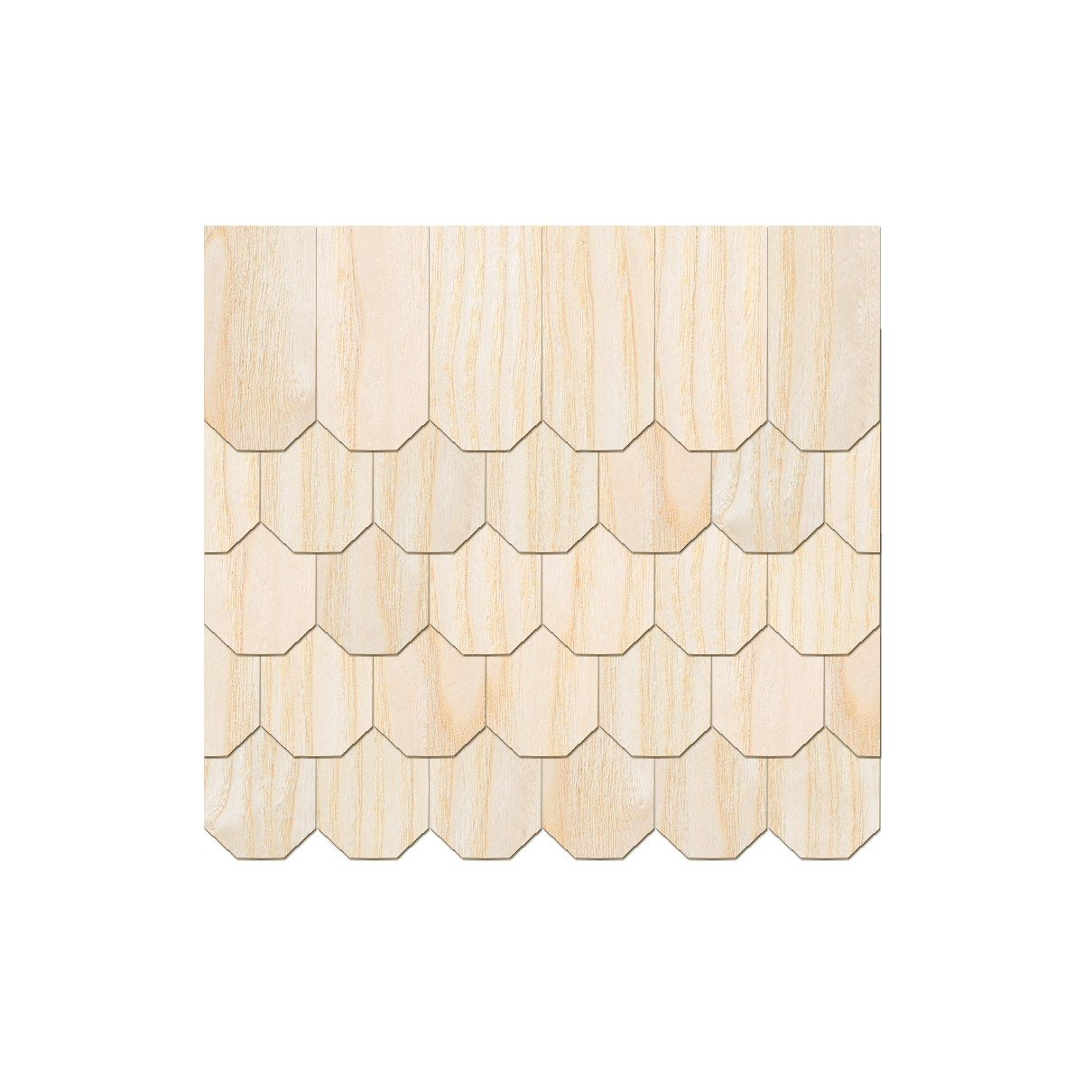 und Mengenauswahl Größen Echtholz Furnier helle Schindeln Rechteckform