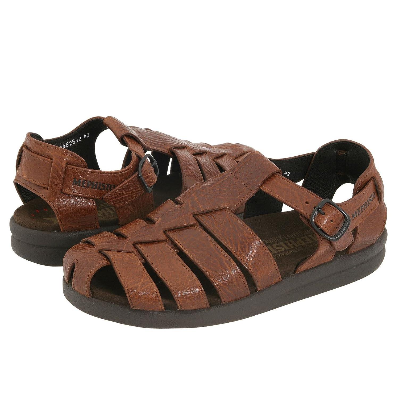 Mephisto-Chaussure Sandale-SAM GRAIN Marron moyen cuir 742-Homme