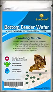 SunGrow Bottom Feeder Wafers, 2.8 Ounce, Essential Nutrition for Your Aquarium's Hardest Worker, Keeps Aquarium Clear, Supports Shrimps and Snail Molting, Snack Filled with Supplements, 1 Pack