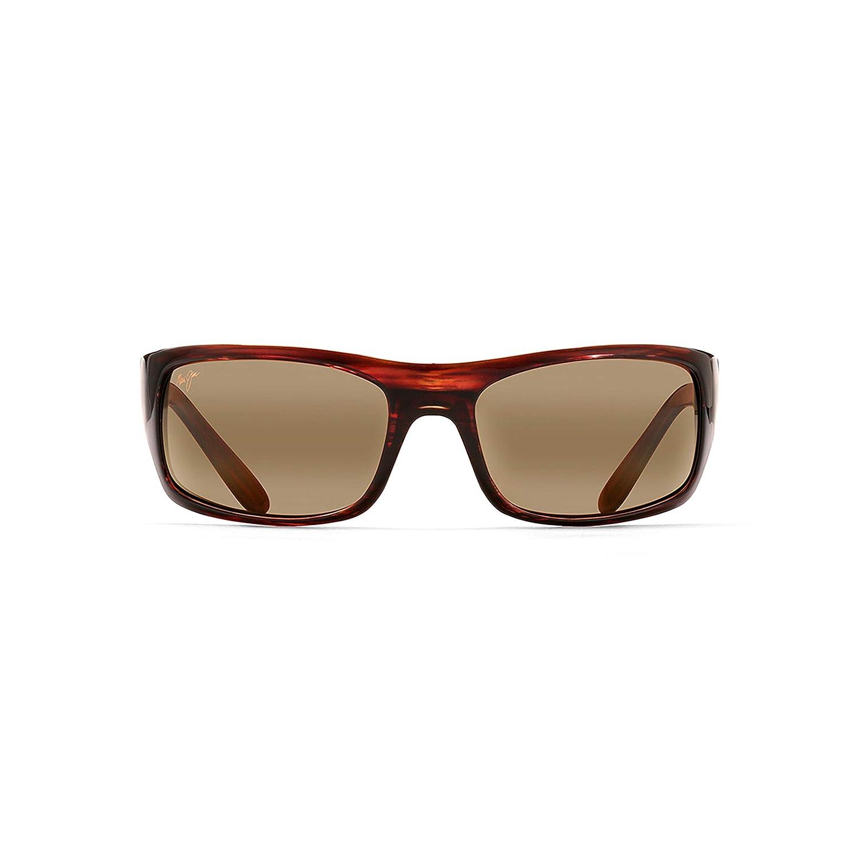 b03aaaaf50 Amazon.com: Maui Jim Peahi H202-10 | Polarized Oval Sunglasses, Burgandy  Tortoise, One Size: Maui Jim: Clothing