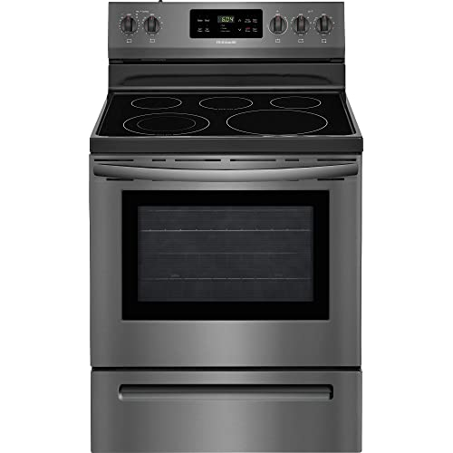 Frigidaire FFEF3054TD 30 Inch Freestanding Electric Range with 5 Elements, Smoothtop Cooktop, 53 cu ft Primary Oven…