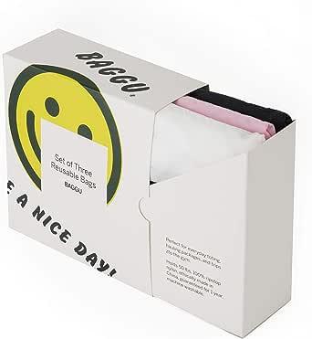 BAGGU Standard Reusable Shopping Bag, Ripstop Nylon Grocery Tote or Lunch Bag