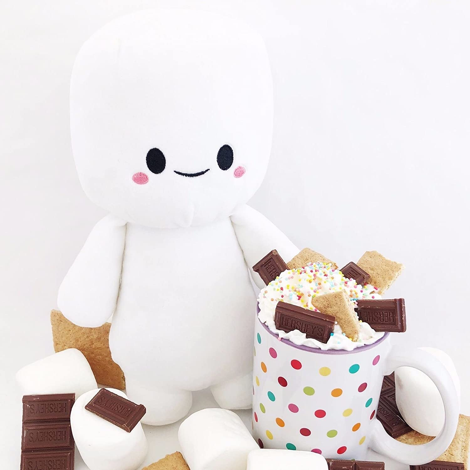 Smores Stuffed Animal, Marshfellows The First Huggable S More Stuffed Animal Ultra Soft Toy Toys Games Amazon Com