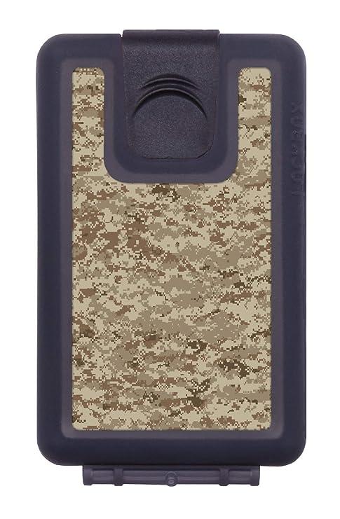 LOCKBOX Cartera Militar Hombre Pequeña Impermeable, Billetero Camuflaje Resistente al Agua - Tarjetero Diseño Camo