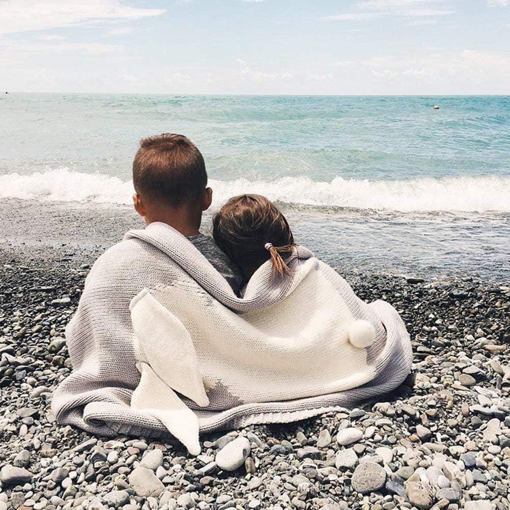 Pour fille et gar/çon Douce et chaude Petite couverture en alpaga tricot/ée pour b/éb/é