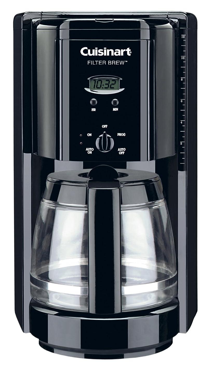 Cuisinart DCC-1000BK Filter Brew 12-Cup Programmable Coffeemaker, Black