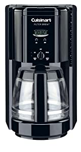 Cuisinart DCC-1000BK Filter Brew 12-Cup Programmable Coffeemaker, Black