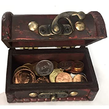 IMPACTO COLECCIONABLES Monedas de Colección - 25 Monedas sin Circular de 25 Países + Cofre de Regalo: Amazon.es: Juguetes y juegos