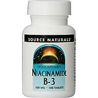 海外直送品 Source Naturals Niacinamide, 100 Tabs 100 MG