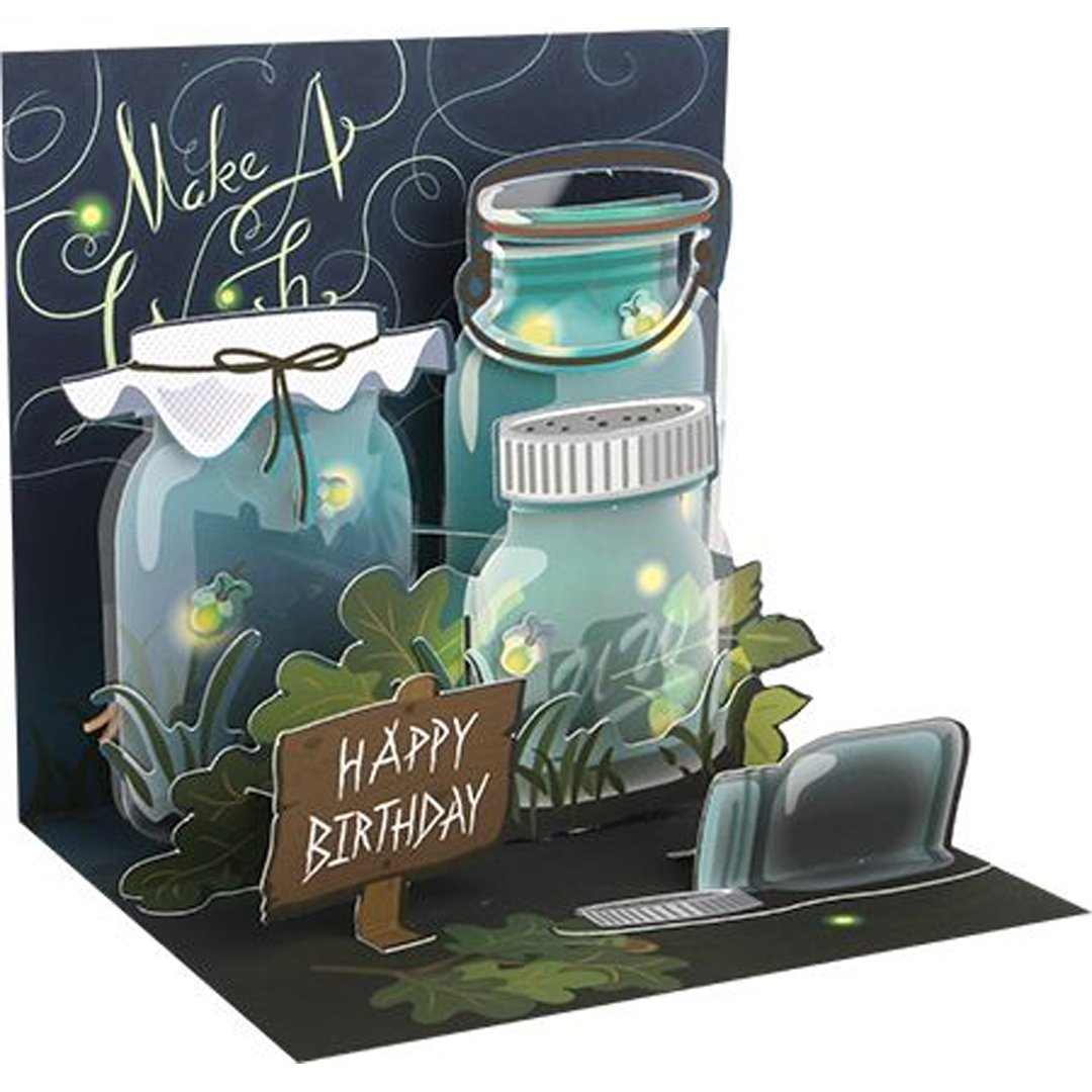 Amazon Up With Paper Pop Up Treasures Light Up Greeting Card