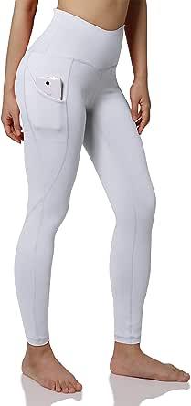 ODODOS Out Pocket High Waist Yoga Pants,Tummy Control,Pocket Workout Yoga Pant