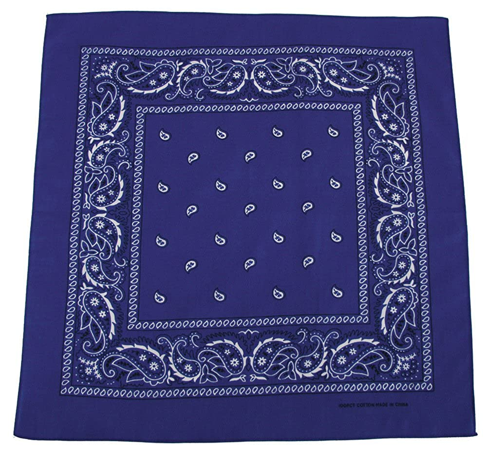 Bandana biker scarf royal blue and white Blue / Blue MFH