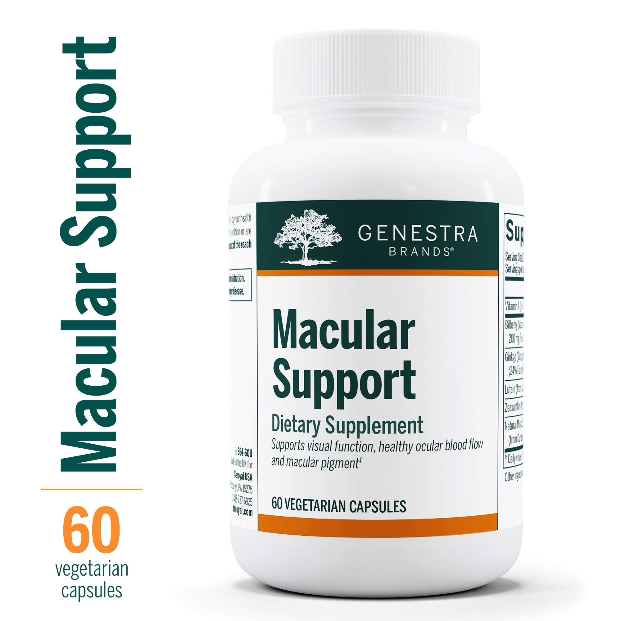 Genestra Brands - Macular Support - Supports Optimal Macular Pigment Optical Density* - 60 Capsules