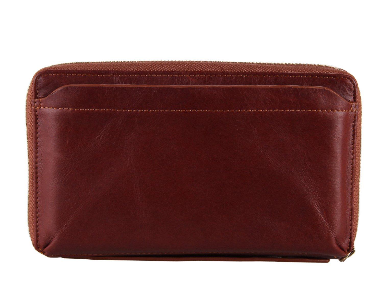 Genda 2Archer Leather Handbag Coin Purse Wallet Organizer Clutch Card Holder (Brown)