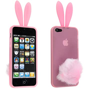 Silicona Conejo de conejito precioso para el iPhone 5 con ...