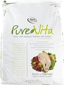 PureVita Duck and Oatmeal Dry Dog Food Size: 25-lb Bag
