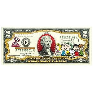 "Peanuts""Charlie Bown & Gang"" Limited Edition Legal Tender U.S. $2 Bill!"