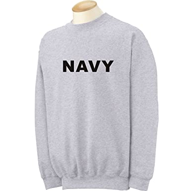 Amazon.com: NAVY Crewneck Sweatshirt in Gray: Clothing