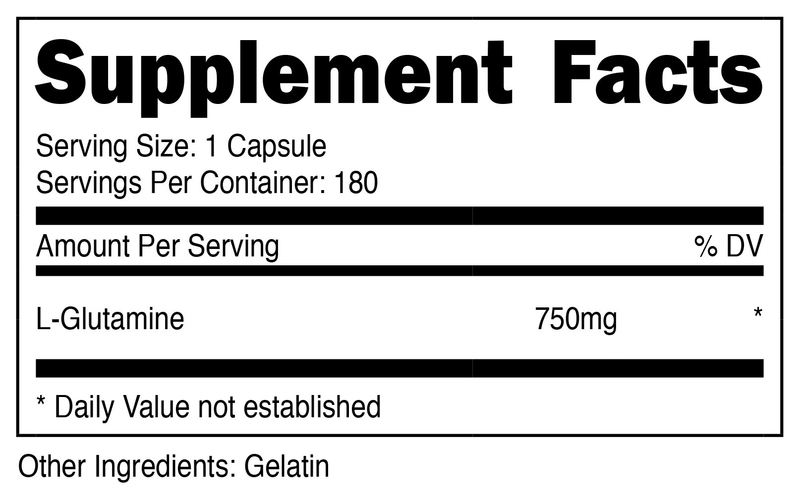 Nutricost L-Glutamine 750mg; 180 Capsules by Nutricost (Image #2)