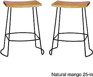 product image for Carolina Chair and Table Dayton Saddle Seat Stools (Set of 2) Yellow Bar