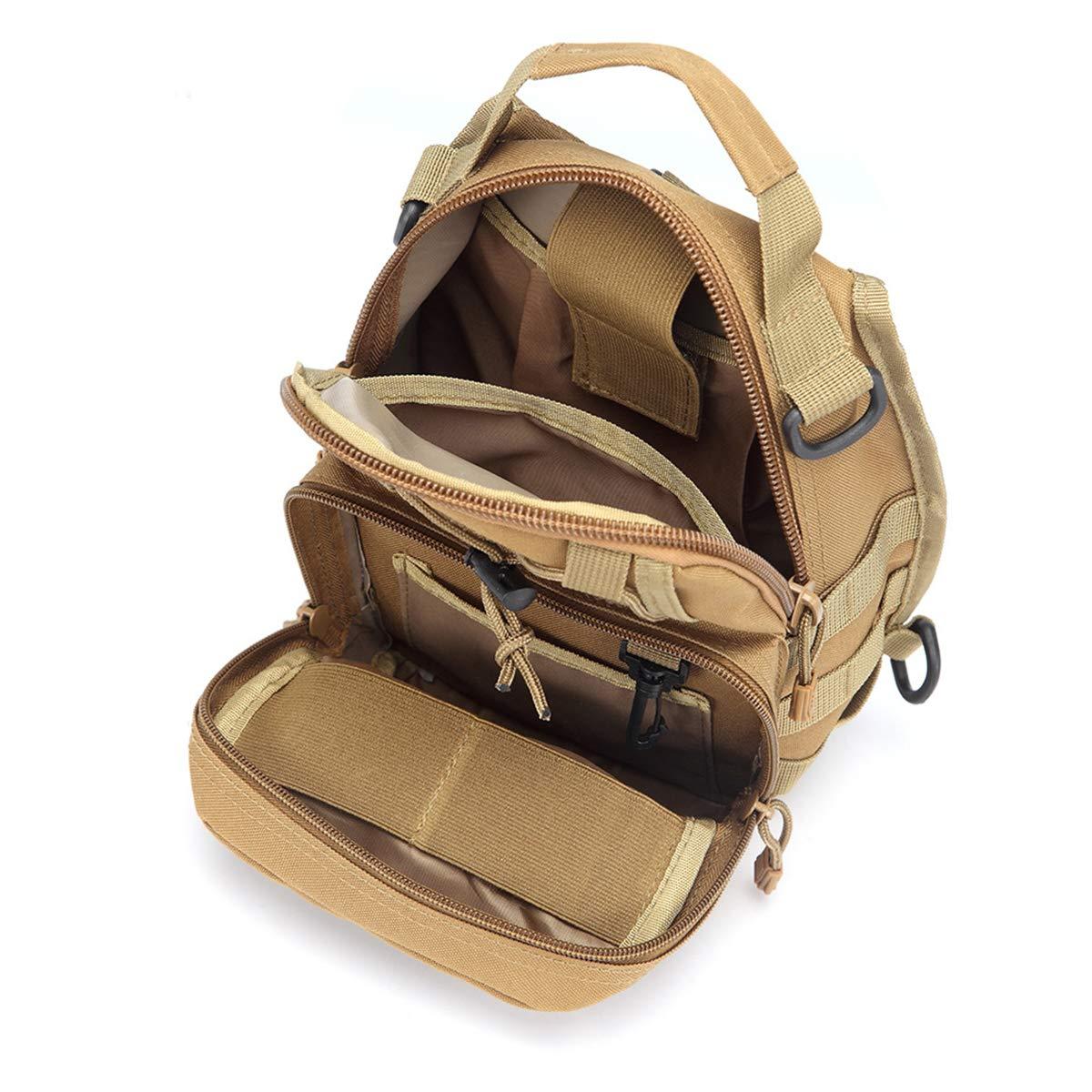 ICEIVY Crossbody Sling Bag Rucksack Herren Tasche Umh/ängetasche Schultertasche Taktische Sling Schulterrucksack Chest Bag Pack Daypacks mit Einem Gurt Sling f/ür Schule,Reise,Wandern,Trekking