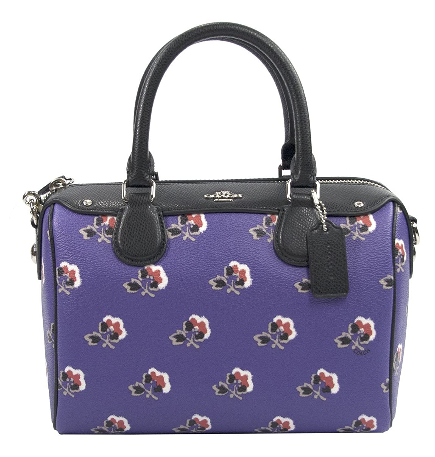 Coach 55464 Purple Bramble Rose Crossgrain Leather Mini Bennett Satchel