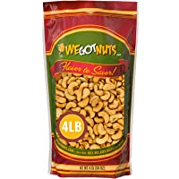 Dry Roasted Unsalted Cashews – Premium Quality Kosher Dry Roasted Cashews By We Got Nuts – No Oil Natural & Healthy Rich…