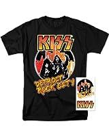 KISS Detroit Rock City Music Glam Metal T Shirt & Exclusive Stickers