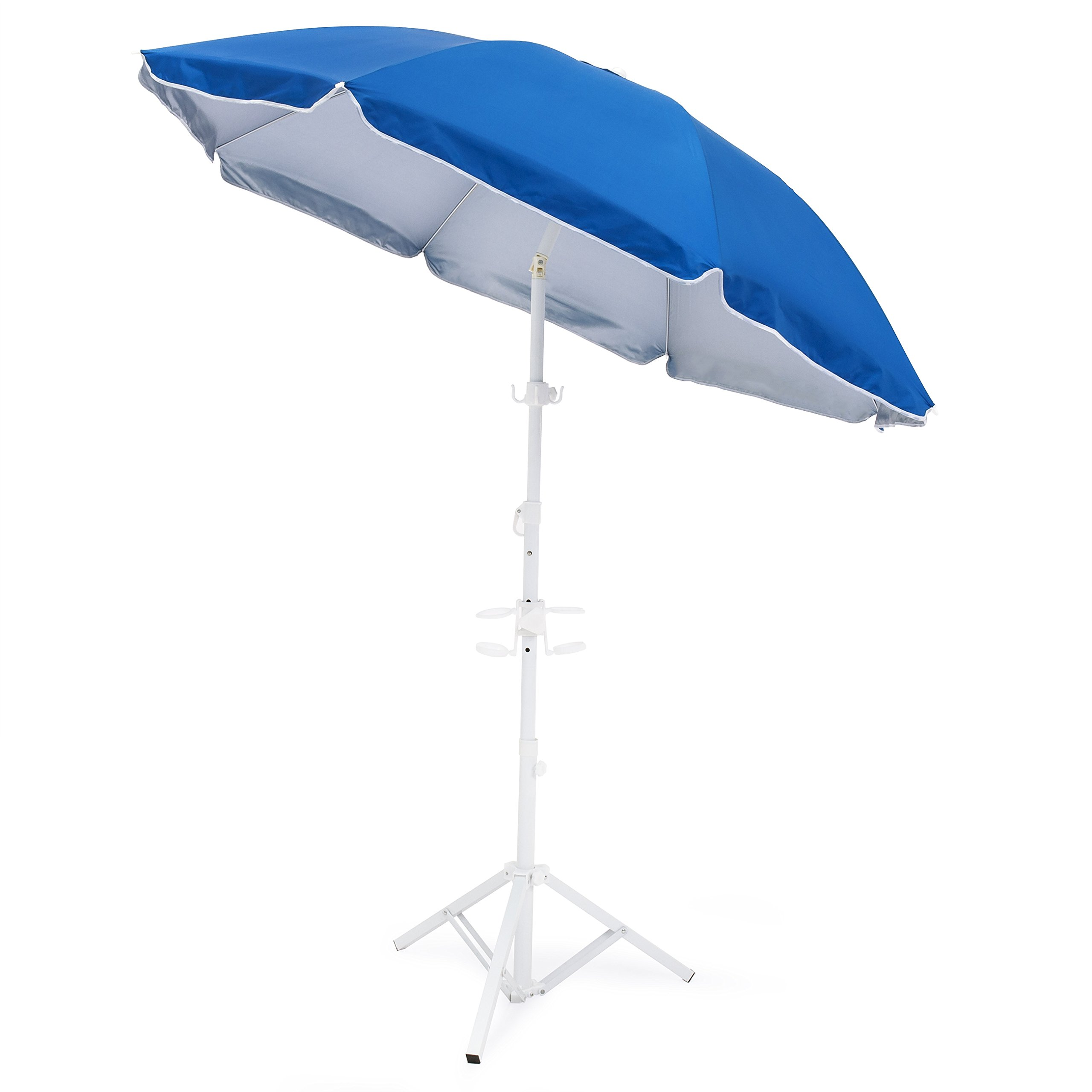 Best Choice Products 5.5ft Beach Umbrella w/Tripod Base and Carrying Case by Best Choice Products