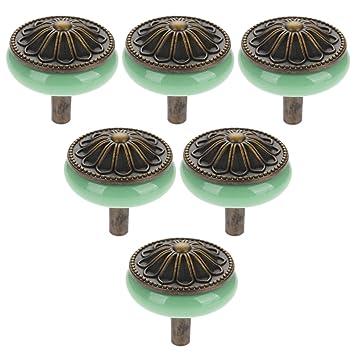 Keramik Möbelknöpfe Möbelknauf Schrankknöpfe für Schrank Schubladen Grün