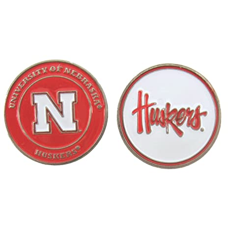 7aadc025716 Image Unavailable. Image not available for. Color  Nebraska Huskers Double-Sided  Golf Ball Marker