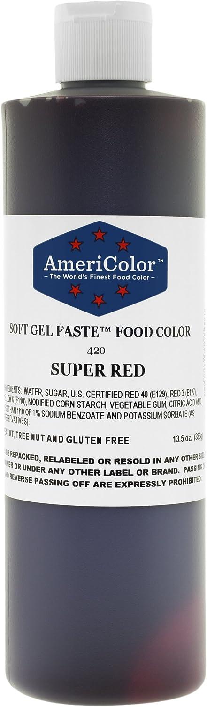 AmeriColor Alimentos Color Super Rojo 13,5Oz