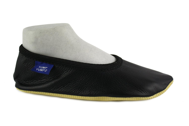 YUMP YUMPZ Soft Essentials #8plus schwarz - Gymnastikschuhe Aus natürlichem natürlichem Aus Soft-Leder Turnschläppchen/Saalturnschuhe/Ballettschuhe/Flats – in Verschiedenen Größen Schwarz 2b5e50