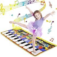 WOSTOO Alfombra para Piano, Alfombra de Teclado Táctil Musical Touch Juego Musical Portátil Electrónico Educativo…