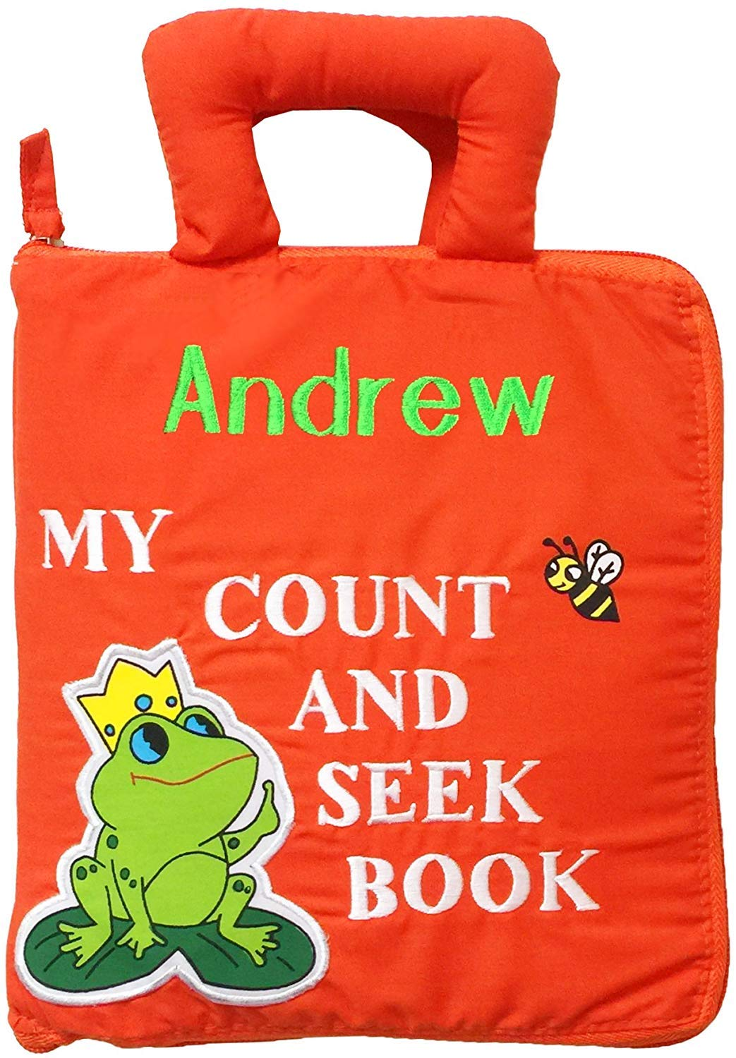 Pockets of Learning Personalized Child's First Counting Quiet Book, Activity Busy Book for Toddlers and Children, Count and Seek
