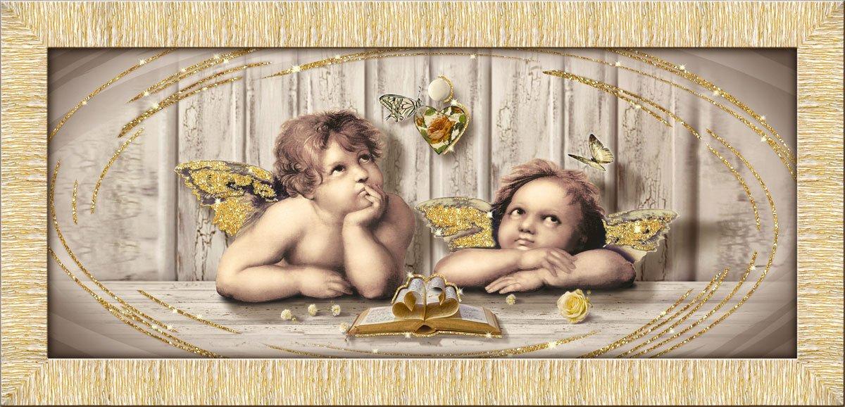 Lupia Quadro su Tela Prince 65X135 cm Cupids Brown Gold