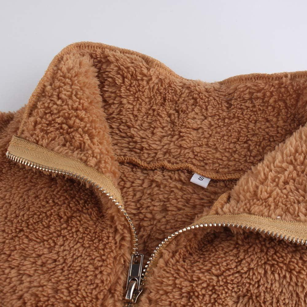 FranterdWomen Sleeveless Outerwear Vest Long Hair Jacket Waistcoat